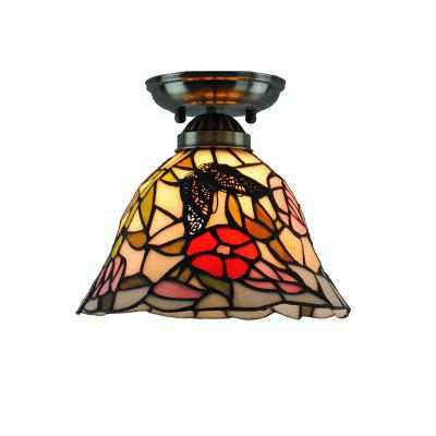 Modern Art Crafts Nordic Stained Glass Lamp Shade Lustre Vanity Flush Mount Ceiling Light ...