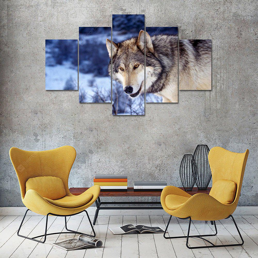 Animal Wolf C Canvas Print Painting Home Decoration Wall Art Picture 5 Panel