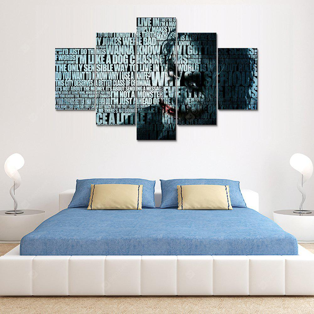 Joker C Canvas Print Painting Home Decoration Wall Art Picture 5 Panel
