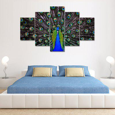 Peacock D Canvas Print Painting Home Decoration Wall Art Picture 5 Panel