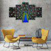 Peacock D Canvas Print Painting Home Decoration Wall Art Picture 5 Panel - COLORMIX