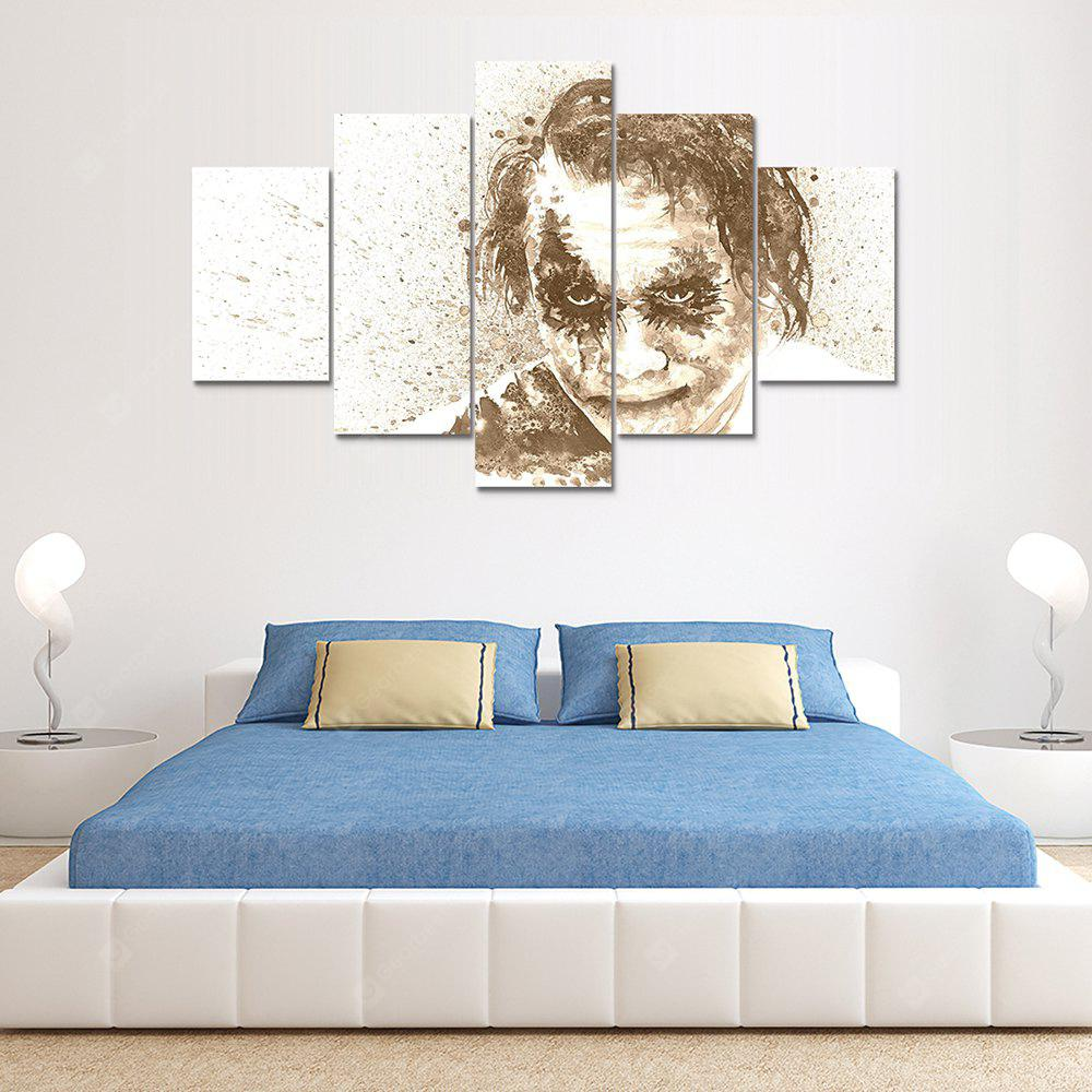 Joker Man Canvas Print Painting Home Decoration Wall Art Picture 5 Panel