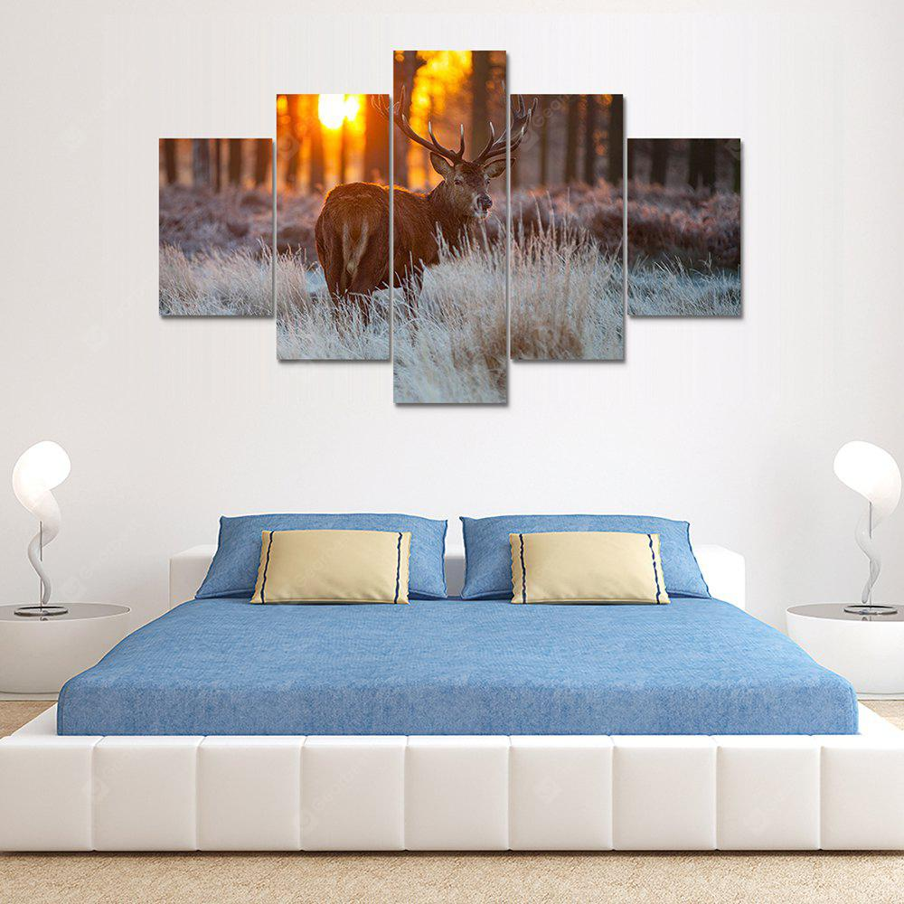 Animal Deer A Canvas Print Painting Home Decoration Wall Art Picture 5 Panel