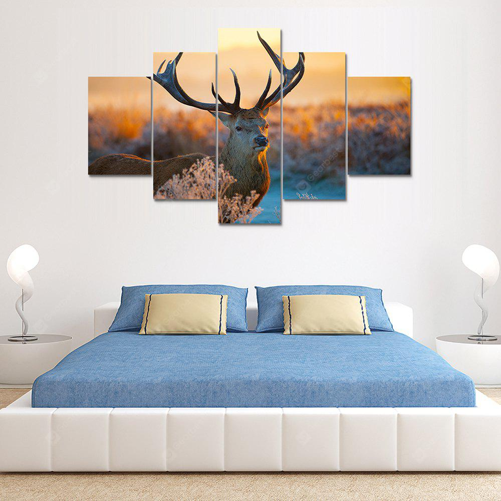 Animal Deer B Canvas Print Painting Home Decoration Wall Art Picture 5 Panel