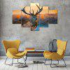 Animal Deer B Canvas Print Painting Home Decoration Wall Art Picture 5 Panel - COLORMIX
