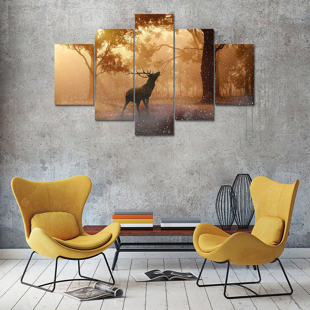Deer Tree Canvas Print Painting Home Decoration Wall Art Picture 5 Panel