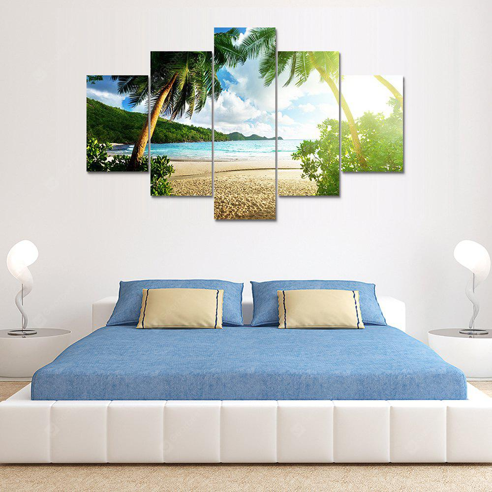 Coconut Palm Canvas Print Painting Home Decoration Wall Art Picture 5 Panel