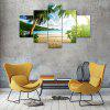 Coconut Palm Canvas Print Painting Home Decoration Wall Art Picture 5 Panel - COLORMIX