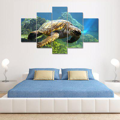 Longevity Turtle Canvas Print Painting Home Decoration Wall Art Picture 5 Panel