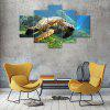 Longevity Turtle Canvas Print Painting Home Decoration Wall Art Picture 5 Panel - COLORMIX