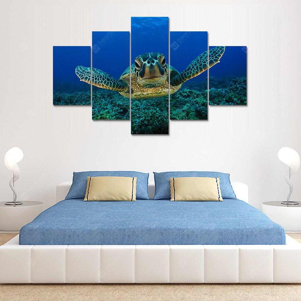Turtles Canvas Print Painting Home Decoration Wall Art Picture 5 Panel