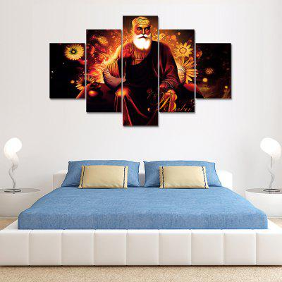 Guru Nanak Canvas Print Painting Home Decoration Wall Art Picture 5 Panel