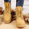 Men's Leather Waterproof Boots - YELLOW