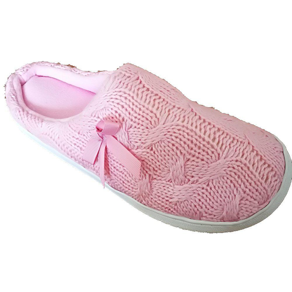 Women's  House Slippers with Cashmere Upper Fleece Lining and Anti-Slip Rubber Outsole
