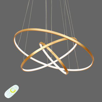 Lazada Remote Control Pendant Light with Three Rings for Living Room Coffee Shops