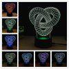 M.Sparkling TD185 Creative Abstract 3D LED Lamp - COLORFUL