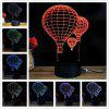 M.Sparkling TD018 Creative Valentine'S Day 3D LED Lamp - COLORFUL