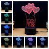 M.Sparkling TD092 Creative abstract 3D LED Lamp - COLORFUL