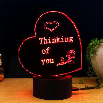 M.Sparkling TD260 Creative Abstract 3D LED Lamp
