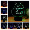 M.Sparkling TD260 Creative Abstract 3D LED Lamp - COLORFUL
