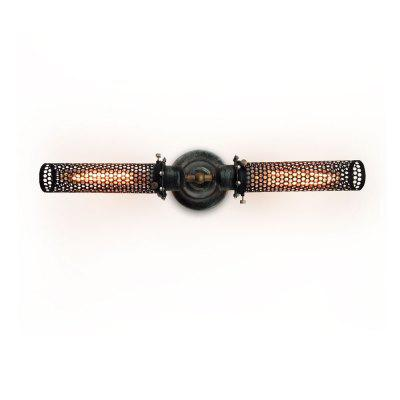 S2001 Grid Cage 2 Lights Double Arm Wall Sconce
