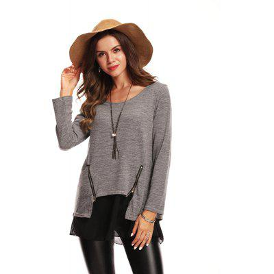 Fashionable Loose Long Sleeve PulloverTees<br>Fashionable Loose Long Sleeve Pullover<br><br>Collar: Collarless<br>Elasticity: Micro-elastic<br>Embellishment: Lace<br>Fabric Type: Worsted<br>Material: Cotton Blends<br>Package Contents: 1 x Pullover<br>Pattern Type: Solid<br>Shirt Length: Long<br>Sleeve Length: Full<br>Style: Fashion<br>Weight: 0.5000kg