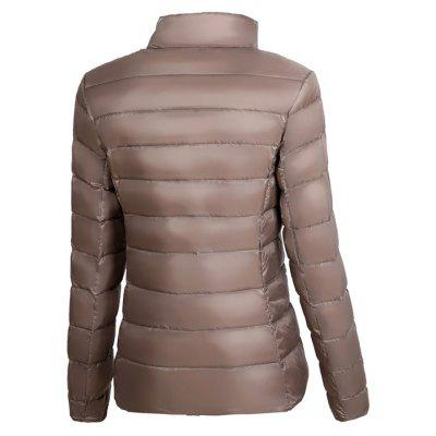 Womens Long Sleeve Down JacketJackets &amp; Coats<br>Womens Long Sleeve Down Jacket<br><br>Closure Type: Zipper<br>Clothes Type: Down &amp; Parkas<br>Collar: Mandarin Collar<br>Elasticity: Nonelastic<br>Embellishment: No Embellishment<br>Fabric Type: Worsted<br>Material: Down<br>Package Contents: 1  x  Jacket<br>Padding: White Duck Down<br>Pattern Type: Solid<br>Shirt Length: Regular<br>Sleeve Length: Full<br>Style: Casual<br>Type: Wide-waisted<br>Weight: 1.0000kg