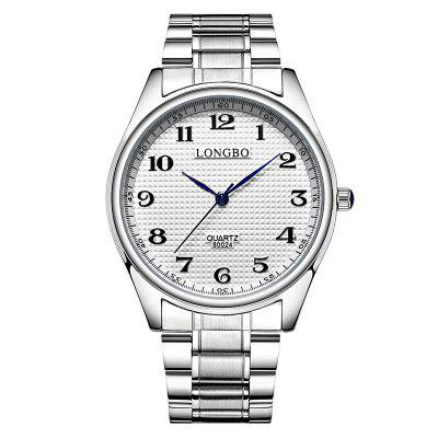 Longbo 80024 Leisure Stainless steel Band Couple Watch