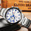 LONGBO 80225 Men Sports Leisure Stainless Steel Band Quartz Watch - SILVER AND WHITE