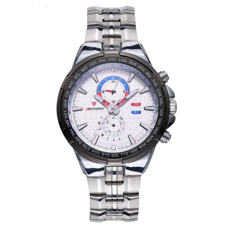 Longbo 80226 Men Leisure Stainless Steel Band Quartz Watch