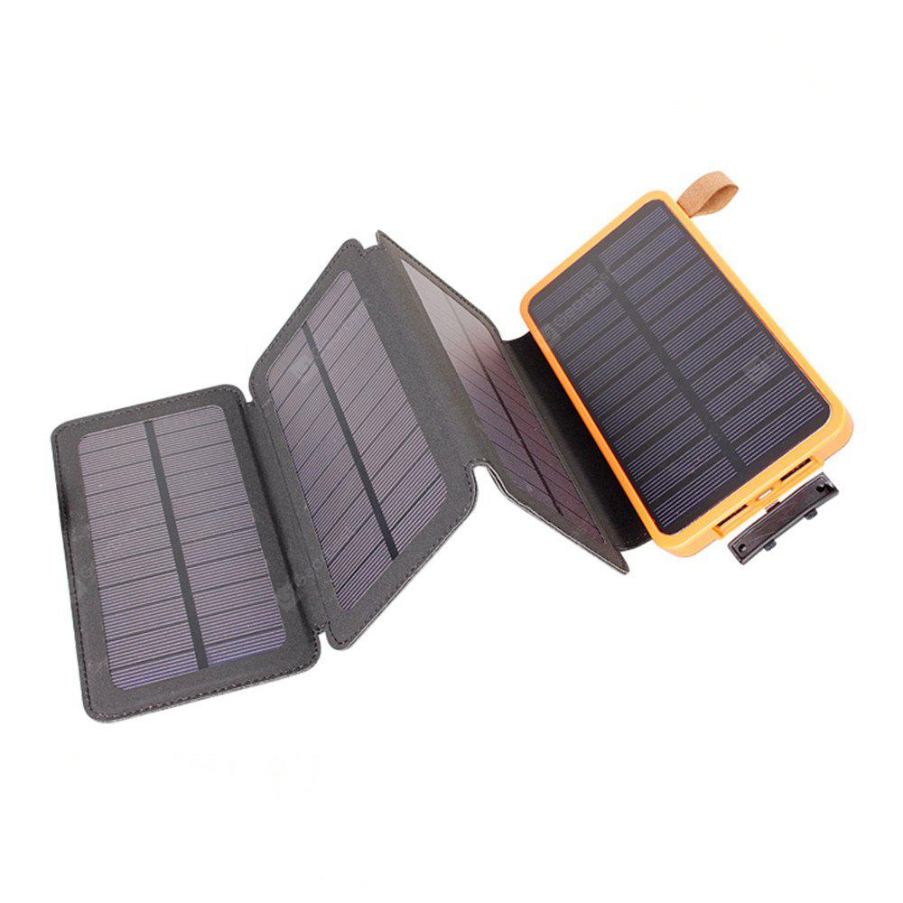 10000mAh Solar Power Bank with Foldable Panel Portable Rugged Shockproof Dual USB Battery Charger