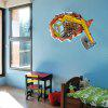 DSU Abstract Amazing 3D-effect Excavator Wall Stickers Creative Home DIY Decor Painting Child Adult Room - COLORFUL