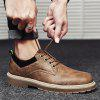 Men Casual Fashion Metal Decoration Business Leather Shoes Size 39-44 - BROWN