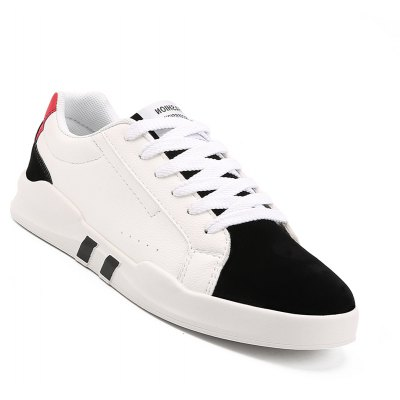 Men Casual Fashion Leather Flat Canvas Shoes Size 39-44
