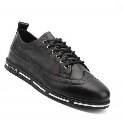 Men Casual Fashion Business Flat Leather Shoes Size 39-44