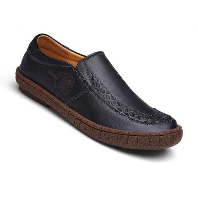 Men's Casual Genuine Leather Slip On Shoes