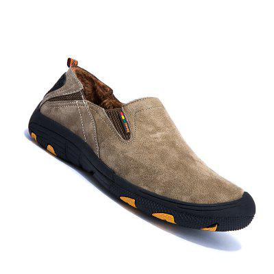 Buy KHAKI 43 Men Loafers Slip on Male Flats Shoes Hiking Mountain Camping Climbing for $48.62 in GearBest store