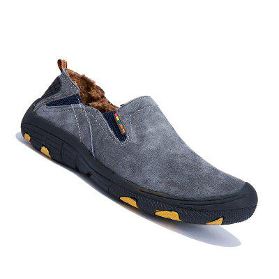 Buy GRAY 40 Men Loafers Slip on Male Flats Shoes Hiking Mountain Camping Climbing for $48.62 in GearBest store