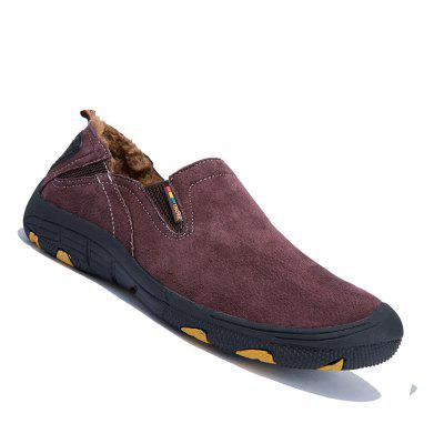 Buy WINE RED 42 Men Loafers Slip on Male Flats Shoes Hiking Mountain Camping Climbing for $48.62 in GearBest store