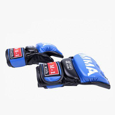 Pair of Muay Thai Training Punching Bag Half Mitts Sparring Boxing Gym GlovesBoxing<br>Pair of Muay Thai Training Punching Bag Half Mitts Sparring Boxing Gym Gloves<br><br>Color: Blue,Red<br>Material: Leather<br>Package Content: 1 x Pair of Boxing Gloves<br>Package size: 23.00 x 13.00 x 8.00 cm / 9.06 x 5.12 x 3.15 inches<br>Package weight: 0.3000 kg<br>Product weight: 0.2000 kg<br>Target User: Adults,Children,Men,Teenager<br>Type: Boxing Gloves