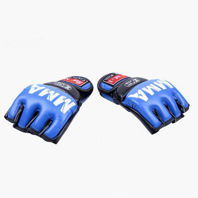 Pair of Muay Thai Training Punching Bag Half Mitts Sparring Boxing Gym Gloves