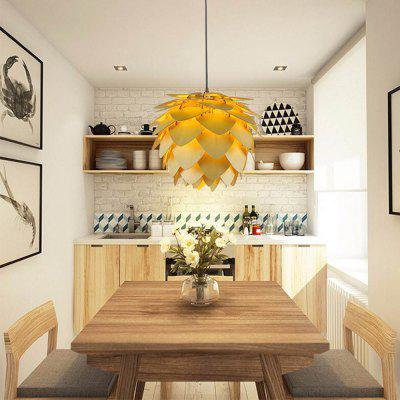YouOKLight Wood Pine Cone Pendant Wood Lamp Shade for Dining Living Room 1PC AC 110 - 240V