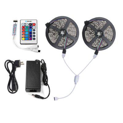 Brelong 10M 600 x 2835SMD RGB Non impermeabile LED Strip Light Plus connettore per cavo di controllo Adattatore 5A 100 - 240V