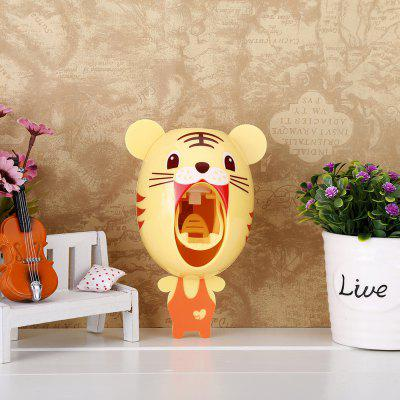 Buy YELLOW Automatic Toothpaste Squeezing Machine Toothbrush Rack Little Tiger for $10.35 in GearBest store