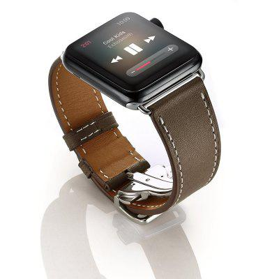 Buy CAPPUCCINO Deployment Buckle Single Tour Genuine Leather Band for Apple Watch Series 3 Series 2 Series 1 42MM for $22.89 in GearBest store