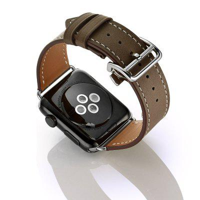 Buy CAPPUCCINO Deployment Buckle Single Tour Genuine Leather Band for Apple Watch Series 3 Series 2 Series 1 38MM for $22.89 in GearBest store