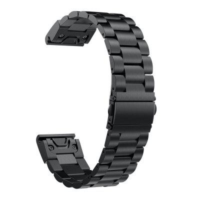 Solid Stainless Steel Smart Watch Replacement Band with Mental Spring Buckle for Garmin Fenix 5