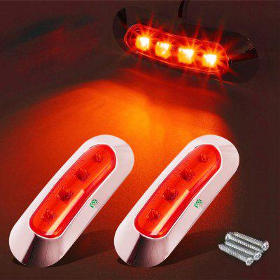 YWXLight 4-LED Side Marker Indicators Lights Brake Warning Signal Taillights Rear Lamp DC 9-30V 2PCS