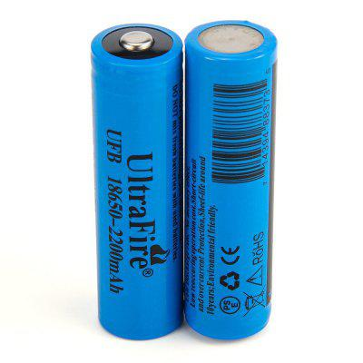 UltraFire 18650 3.7V Actual Capacity 2200MAH Rechargeable Lithium Battery Charger Set