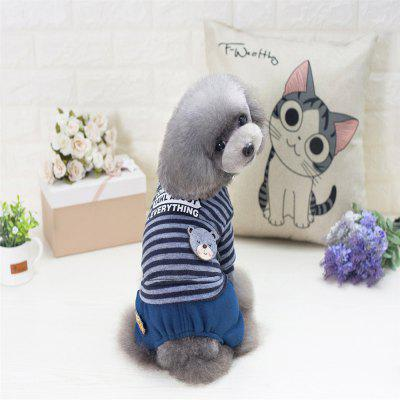 Lovoyager A718  Pet Clothes for Small Dog Baseball Sport Cotton Coat